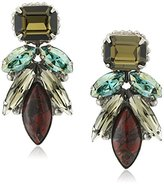 "Sorrelli Blue Brocade"" Emerald Cut Kotinos Drop Earring"