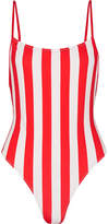 Solid and Striped The Chelsea Striped Swimsuit - Crimson