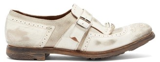 Church's Shanghai W Distressed Leather Loafers - Womens - White