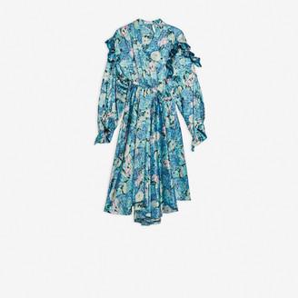 Balenciaga Twisted Ruffle Dress