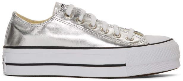 Converse Silver Chuck Taylor All Star Lift Sneakers