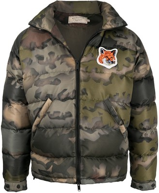 MAISON KITSUNÉ Fox Head Patch Down Jacket