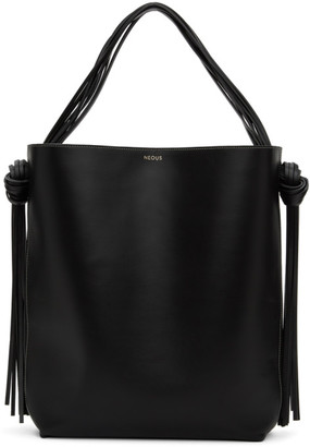 Neous Black Oversized Saturn Tote