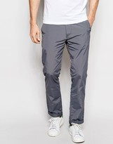 Asos Skinny Chinos In Light Gray Nylon
