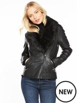 Wallis Clam Faux Fur Coat