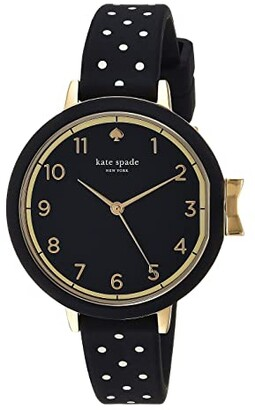 Kate Spade Park Row Silicone - KSW1355 (Black/White) Watches