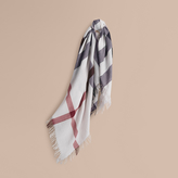 Burberry Check Wool Square - Large, White