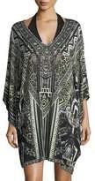 Camilla Bat-Sleeve Printed Caftan Coverup, One Size