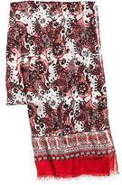 Michael Kors Paisley-Print Modal And Silk Scarf