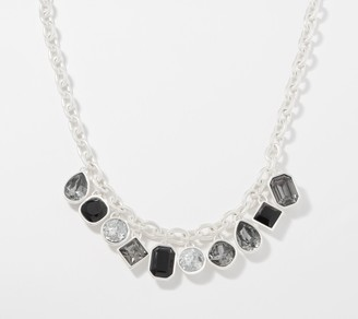 Susan Graver Faceted Crystal Charm Necklace
