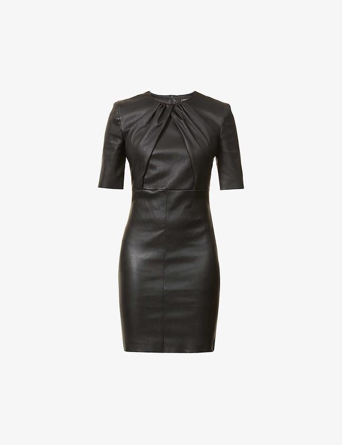 Thumbnail for your product : Jitrois Justine leather mini dress