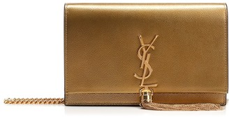 Saint Laurent Fringe Detail Chain Clutch Bag