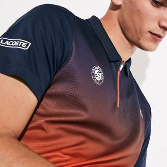 Lacoste Men's SPORT Roland Garros Zip-Front Performance Polo Shirt