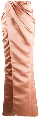 Elisabetta Franchi Draped Wrap Maxi Skirt