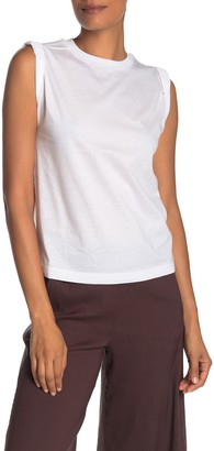 Vince Rolled Sleeve Tank