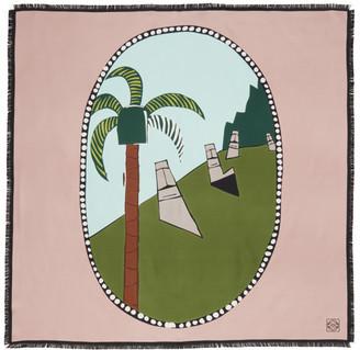 Loewe Pink Ken Price Edition Silk Easter Island Scarf