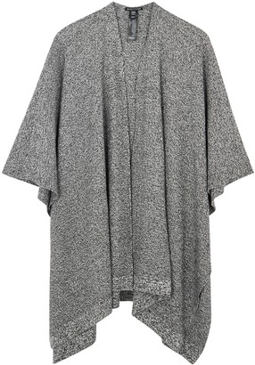 Eileen Fisher Grey Knitted Linen-blend Shawl