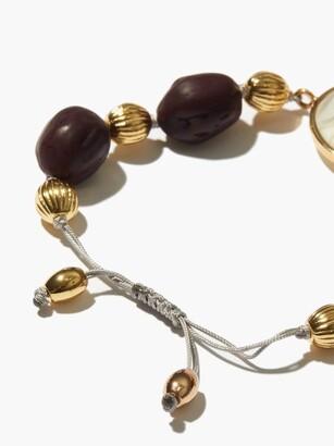 Tohum Evil Eye 24kt Gold-plated Bracelet - Purple