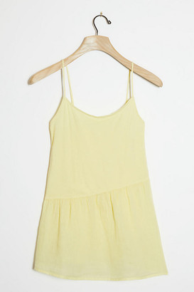 Maye Asymmetrical Tank By Good Luck Tees in Yellow Size M