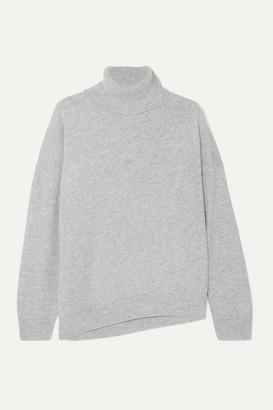 Vanessa Bruno Melanie Wool And Cashmere-blend Turtleneck Sweater - Gray