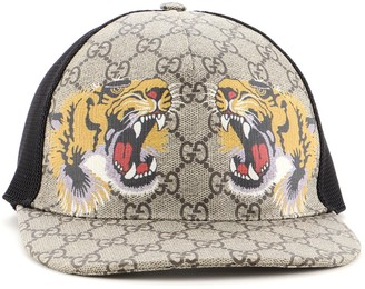 Gucci Baseball Cap Printed GG Coated Canvas Large