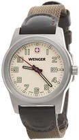 Wenger City Active Swiss Quartz Watch - 32mm, Leather and Nylon Strap (For Women)