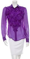 Dolce & Gabbana Silk Ruffled Top