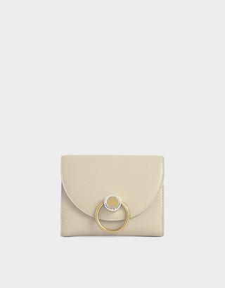 Charles & Keith Ring Push-Lock Mini Wallet