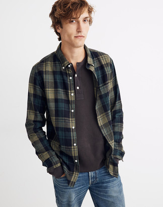 Madewell Brushed Twill Button-Down Shirt in Orsett Plaid