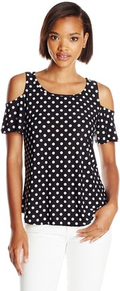 Star Vixen Women's Plus-Size Short Sleeve Cold-Shoulder Tunic