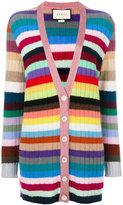 Gucci long length knitted cardigan - women - Viscose/Cashmere/Wool/Metallic Fibre - M