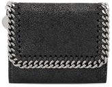 Stella McCartney black falabella small flap wallet