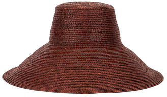 Janessa Leone Holland Packable Hat in Chocolate | FWRD