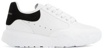 Alexander McQueen White and Black Runner Oversized Sneakers
