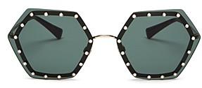 Valentino Women's Rimless Embellished Geometric Sunglasses, 62mm