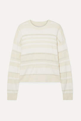 Proenza Schouler Striped Ribbed-knit Sweater - White