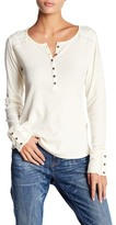 Lucky Brand Embroidered Yoke Thermal
