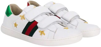 Gucci White Teen Sneakers