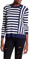 Topshop &Cutabout& Stripe Crewneck Sweater
