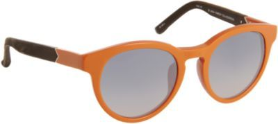 The Row Leather-Wrapped Oversized Round Frame Sunglasses