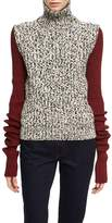 Calvin Klein Two-Tone Chunky Tweed Turtleneck Sweater