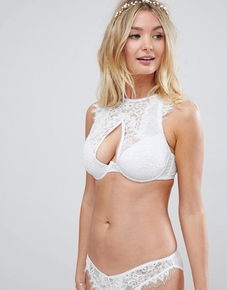 Asos DESIGN Fuller Bust Bridal Markle Corded Lace Cut Out Bralette