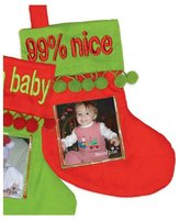 Mud Pie Mini Photo Christmas Stocking Ornament - 99% Nice
