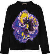 Christopher Kane Intarsia Wool-blend Sweater - Black