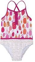 Hatley Girl's Color Block Swimsuit,2 Years