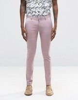 Asos Super Skinny Suit Trousers In Dusty Pink