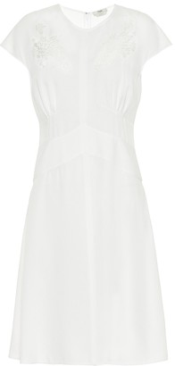 Fendi Lace-trimmed crepe dress