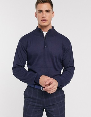 French Connection soft touch half zip knit sweater