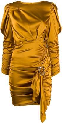 For Love & Lemons long-sleeve fitted dress