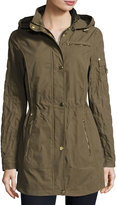 Laundry by Shelli Segal Brushed Cotton Anorak Jacket, Green